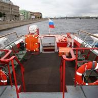 Открытая площадка на теплоходе Москва 104