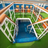 Лестница с верхней палубы на теплоход Артизана (Москва 3).