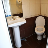 Туалет на теплоходе Людмила